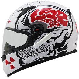 Capacete-LS2-FF358-Crazy-Skull-Branco-Preto