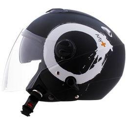 Capacete-Zeus-202FB-T40-Arty-Matt-com-Viseira-Solar-Preto-Branco-Fosco