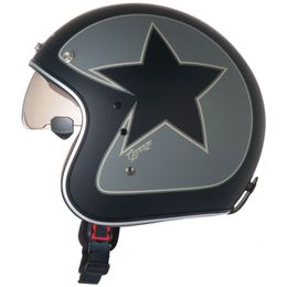 Capacete-Zeus-380FA-K56-Star-Preto-Fosco-Prata