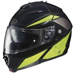 Capacete-HJC-IS-MAX-II-Elemental-MC3H-com-Viseira-Solar-Preto-Amarelo