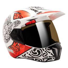 Capacete-Bieffe-3-Sport-Maori-Branco-Vermelho