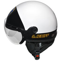 Capacete-Kraft-Rota-66-Sherif-com-Viseira-Branco-Preto
