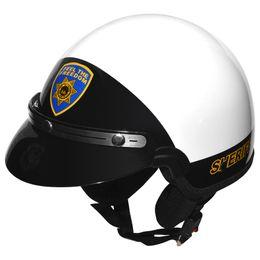 Capacete-Kraft-Rota-66-Sherif-sem-Viseira-Branco-Preto