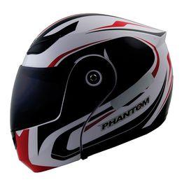 Capacete-Articulado-Phantom-Roadstar-Infinite-Branco-Vermelho