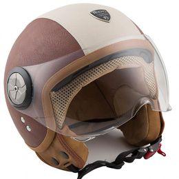 Capacete-Tech3-Fashion-Couro-Marron-Branco