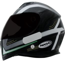 Capacete-Nasa-SH-881-Elegance-Preto-Branco-Verde