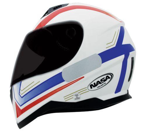 Capacete-Nasa-SH-881-Elegance-Azul-Vermelho-Branco