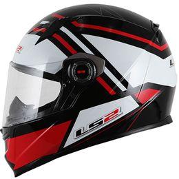 CapaceteLS2-FF358-Mohican-Preto-Branco-Vermelho