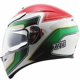 Capacete-AGV-K3-SV-Stile-Italy-Branco-Vermelho-Verde-com-Viseira-Solar-
