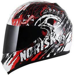Capacete-Norisk-FF391-Gore-Preto-Branco-Vermelho