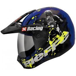 Capacete-Bieffe-3-Sport-Xracing-Azul-Amarelo