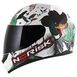 Capacete-Norisk-FF391-Ducky-Branco