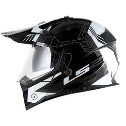 Capacete-LS2-MX436-Pioneer-Trigger-Preto-Branco-Titanium