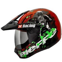Capacete-Bieffe-3-Sport-Xracing-Vermelho-Verde