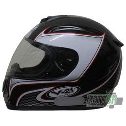 Capacete-V-21-Helmets-Preto-Faixa-Quadriculada-Detalhe-Vermelho