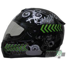 Capacete-V-21-Helmets-Preto-Grafismo-Cidade-Faixa-Lateral-Verde