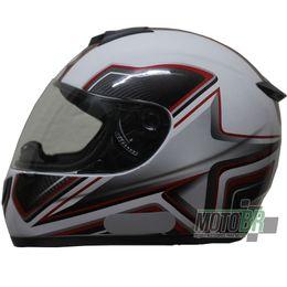 Capacete-V-21-Helmets-Branco-Numero-8-Detalhe-Vermelho