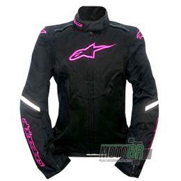 Jaqueta-Alpinestars-Feminina-Caladan-Stella-100--Impermeavel-Modelo-Novo-Preta-Rosa