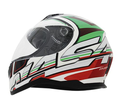 Capacete-Nasa-SH-881-Explosion-Verde-Vermelho-Branco