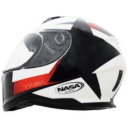Capacete-Nasa-SH-881-Star-fall-Branco-Preto