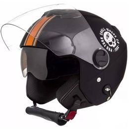 Capacete-Pro-Tork-New-Atomic-Skull-Riders-Preto-Laranja-Fosco-