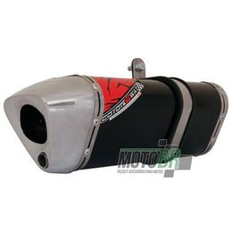 Escapamento-Ponteira-Coyote-TRS-2Way-Aluminio-Preto---Honda-CBR-250---2012-em-diante---Roncar---7589.1