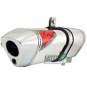 Escapamento-Ponteira-Coyote-TRS-2Way-Aluminio-Polido---Honda-NXR-150-Bros---2009-ate-2014---Roncar---3950.0