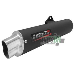 Escapamento-RS-Boca-8-Aluminio--Preto---Honda-NXR-125-150---2004-ate-2008---Roncar---4366.3
