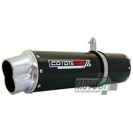 Escapamento-Coyote-RS5-Aluminio-Preto-Oval-Boca-8---Kasinski-Comet-GT-GTR250---2005-ate-2008---Roncar---5066.7