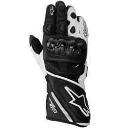 Luva-Alpinestars-GP-Plus-Leather-Preto-Branco