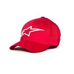 Bone-Alpinestars-Logo-Astar-Hat-Vermelho-Branco