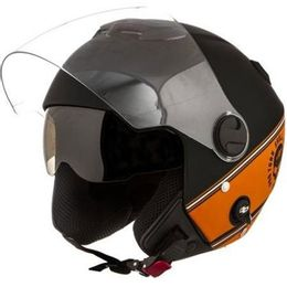 Capacete-Pro-Tork-New-Atomic-Skul-Riders-HD-Preto-Laranja-Fosco