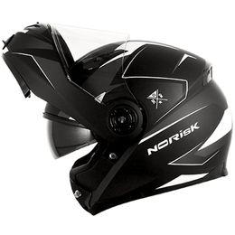 Capacete-Norisk-FF370-Stripe-Preto-Cinza-Branco-Fosco-com-Viseira-Solar