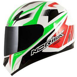 Capacete-Norisk-FF391-Slide-Branco-Verde-Vermelho