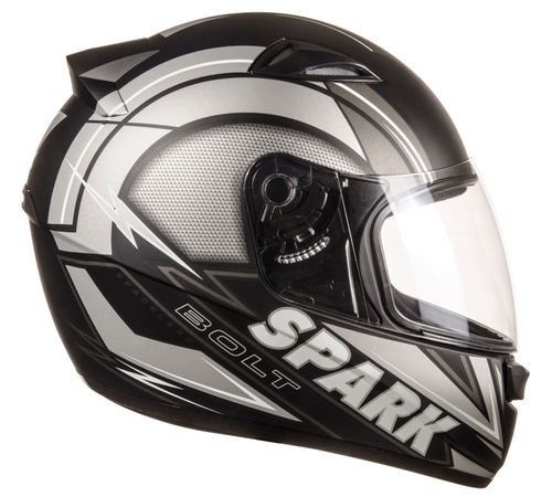 Capacete-EBF-New-Spark-Bolt-Preto-Prata-Fosco