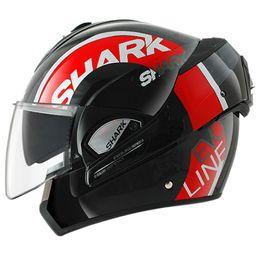 Capacete-Shark-Evoline-Serie-3-Drop-KRW-com-Viseira-Solar-Preto-Vermelho