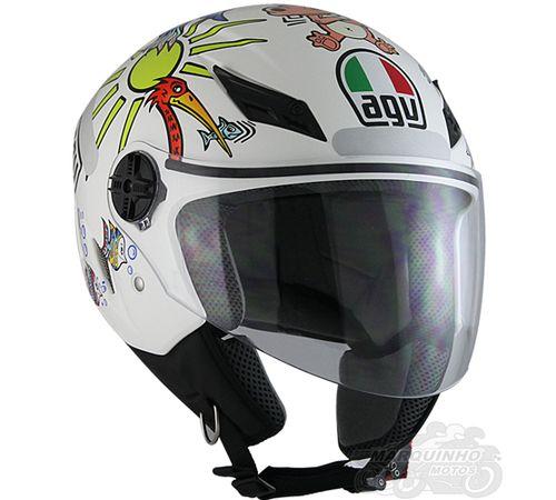 Capacete Agv Blade Branco Zoo Moto Br