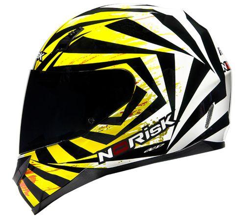 Capacete-Norisk-FF391-Fast-Branco-Amarelo-Fluorescente
