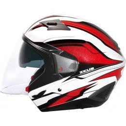 Capacete-Zeus-611A-TT10-Branco-Vermelho
