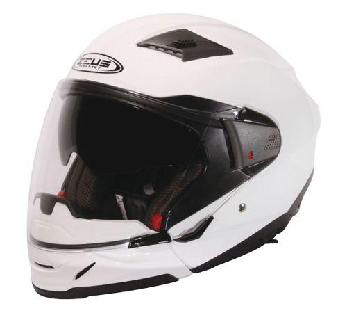 Capacete-Zeus-611A-Pearl-Branco-Logo