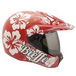 Capacete-Bieffe-3-Sport-Hawaii-Vermelho-Branco
