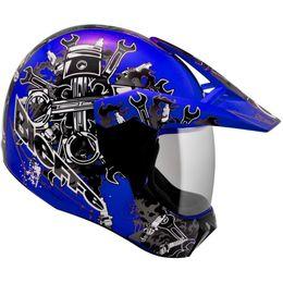 Capacete-Bieffe-3-Sport-Mechanic-Azul-Grafite