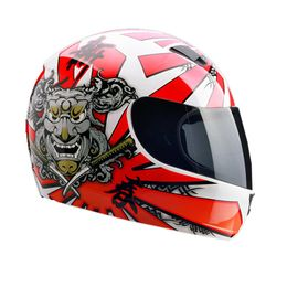 Capacete-EBF-7-Samurai-Branco-Vermelho