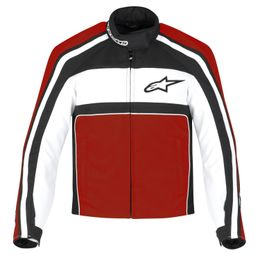 Jaqueta-Alpinestars-Feminina-Stella-T-Dyno-100--Impermeavel-Preta-Branca-Vermelha