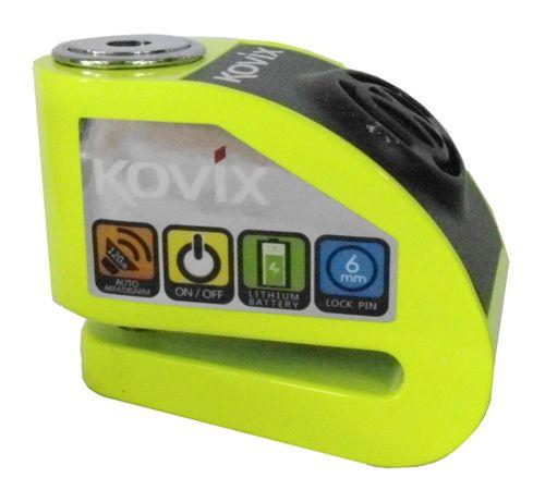 Trava-de-Disco-KD6-FG-Com-Alarme-Verde-Fluorescente---Kovix