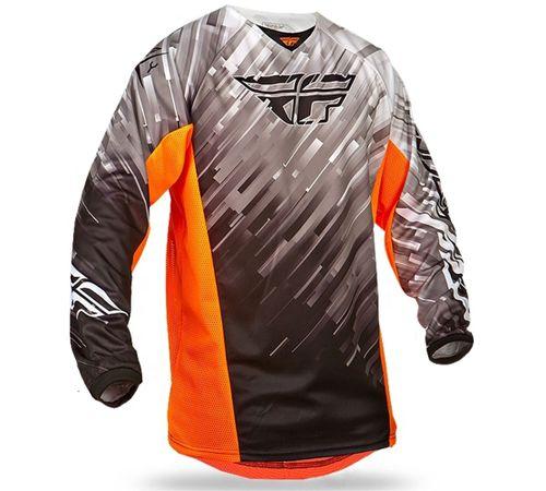 Camisa-Fly-Kinetic-Glitch-Preto-Branco-Laranja