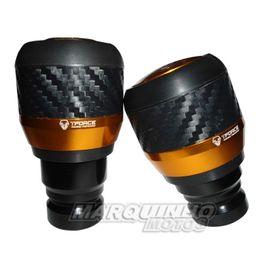 Slider-Dianteiro-Hercun-Carbono-Dourado-Honda-CB600-Hornet-2007---Tforce