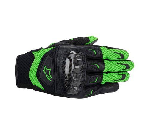 Luva-Alpinestars-SMX-2-Air-Carbon-2014-Verde-Preto