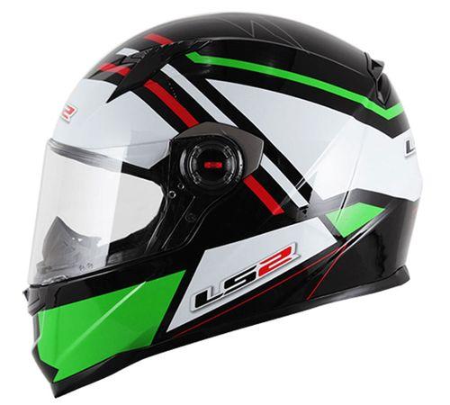 CapaceteLS2-FF358-Mohican-Branco-Verde-Vermelho