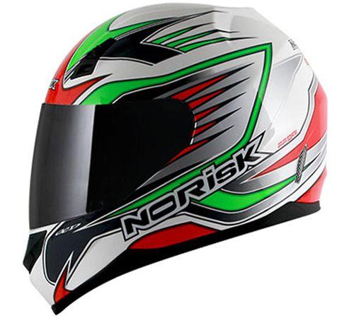 Capacete-Norisk-FF391-Speed-Preto-Verde-Branco